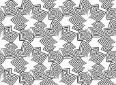 Fotografie Musterdesign schwarze Linien auf weißem Hintergrund. Vektor abstrakten Hintergrund. Psyphodelic schwarz weiß Muster
