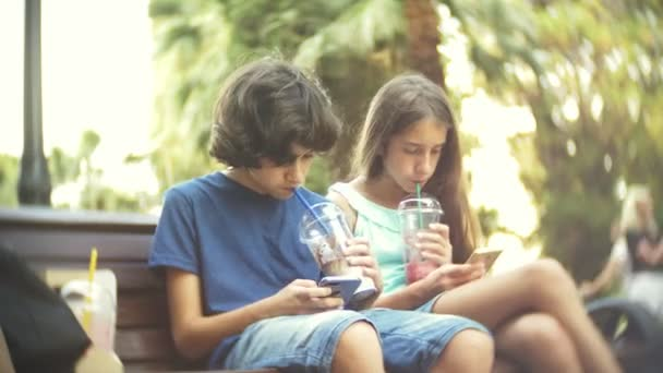 Concept Of Internet Addiction Teen Boy And Girl Use Their