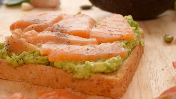 avocado. concept of healthy eating and healthy lifestyle. cooking avocado sandwiches.