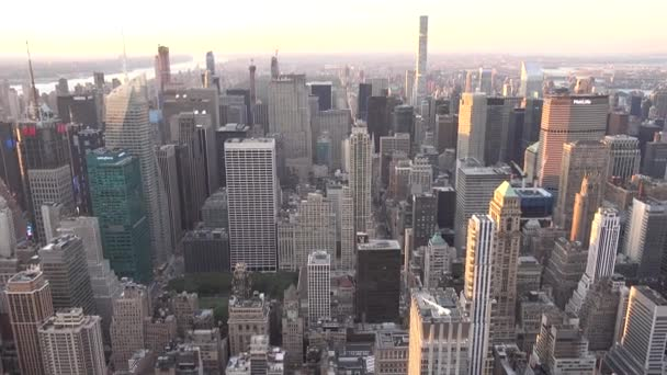 New York City, Amerikai Egyesült Államok - 2018 június 16: A légi felvétel a New York-i és a skyline a nyári este