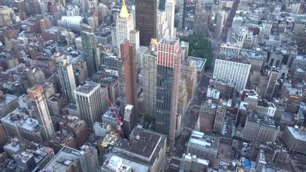 New York City, Usa - 16. června 2018: Letecký snímek New Yorku a panorama na letní večer