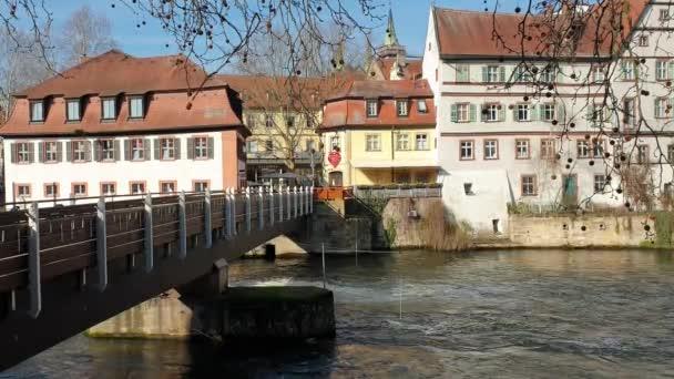 Bamberg-30. März 2019: Blick auf Bamberg eine Stadt in Oberfranken, Deutschland, auf der Regnitz.