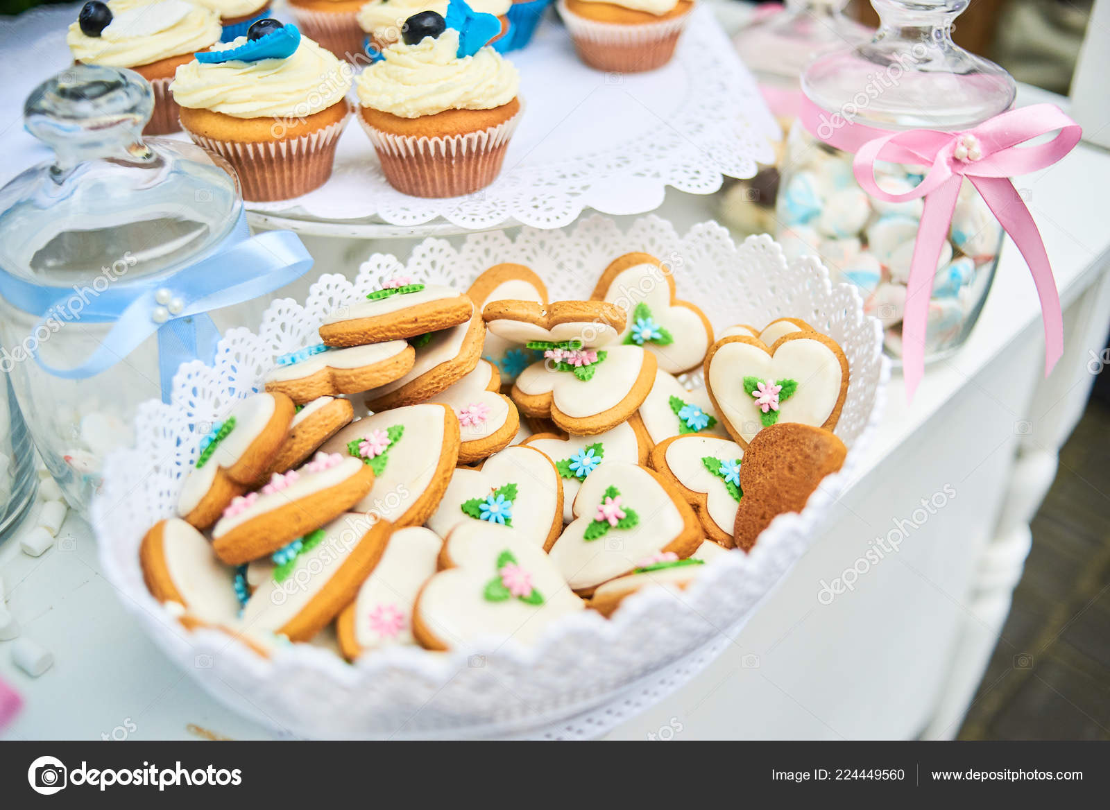 Candy Bar White Wedding Cakes Festive Table Desserts Cupcakes