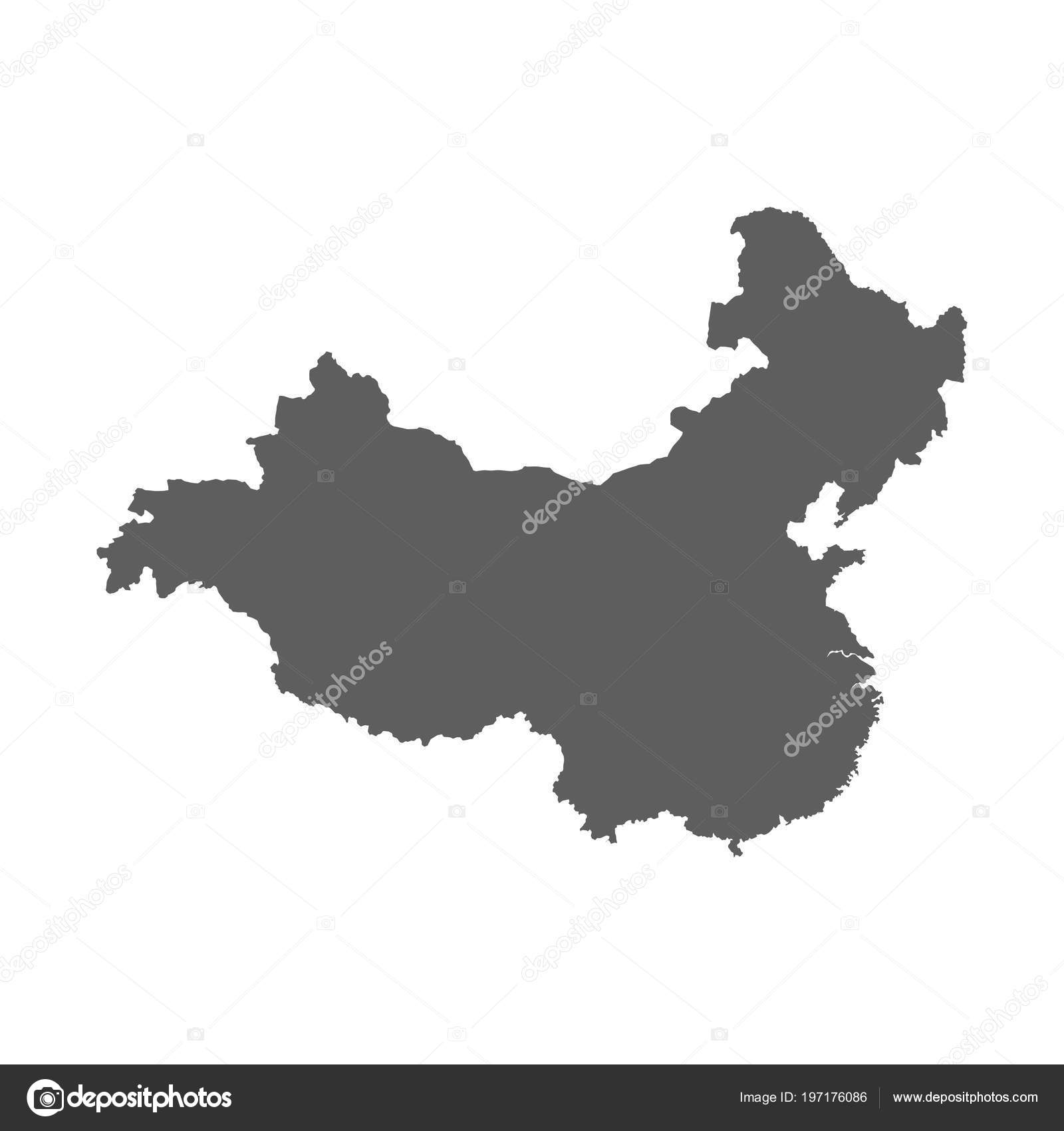 Vector China Map Isolated White Back Stock Vector C Androm 197176086