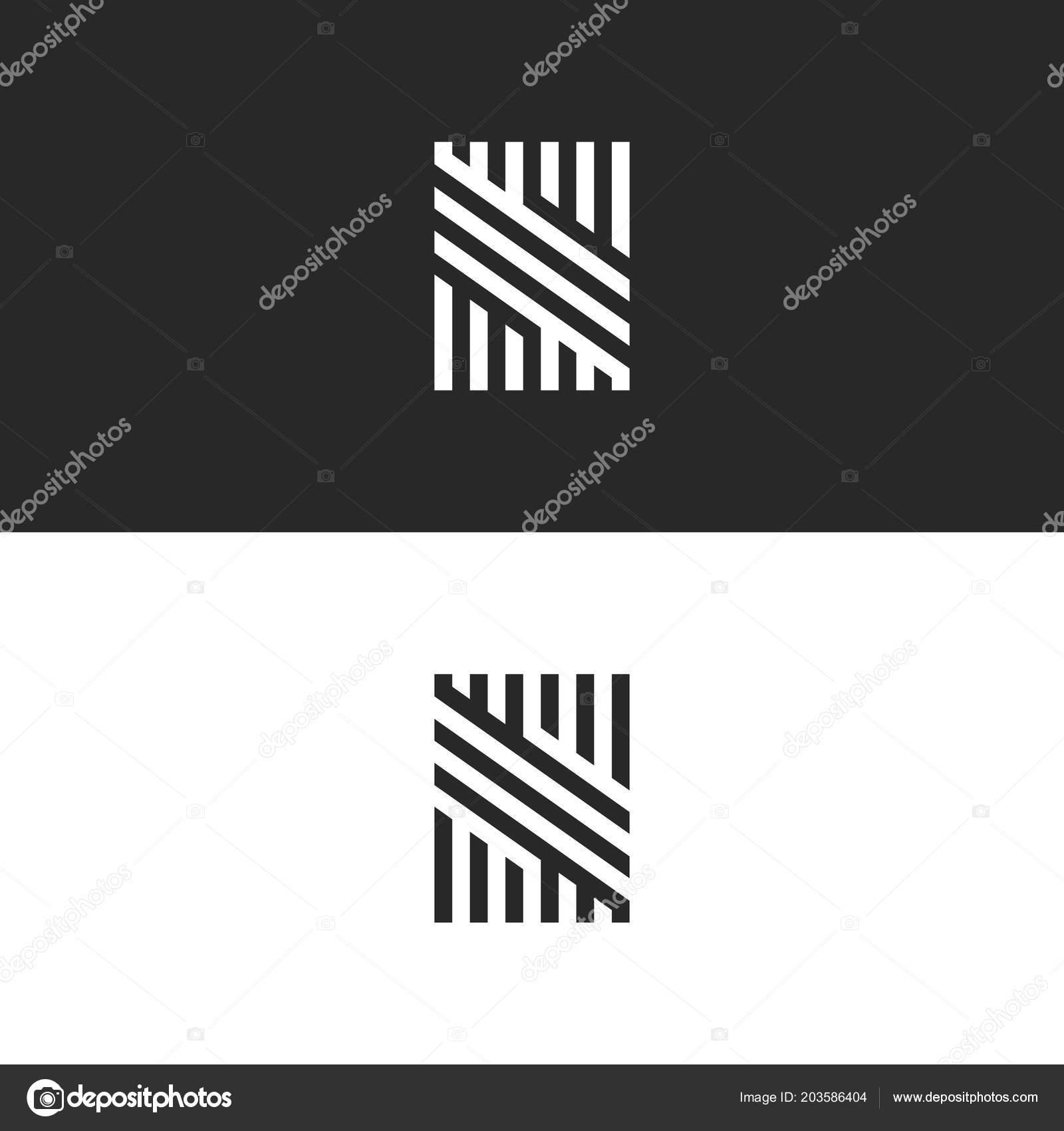 modern hipster monogram letter logo creative trendy business card hipster stock vector