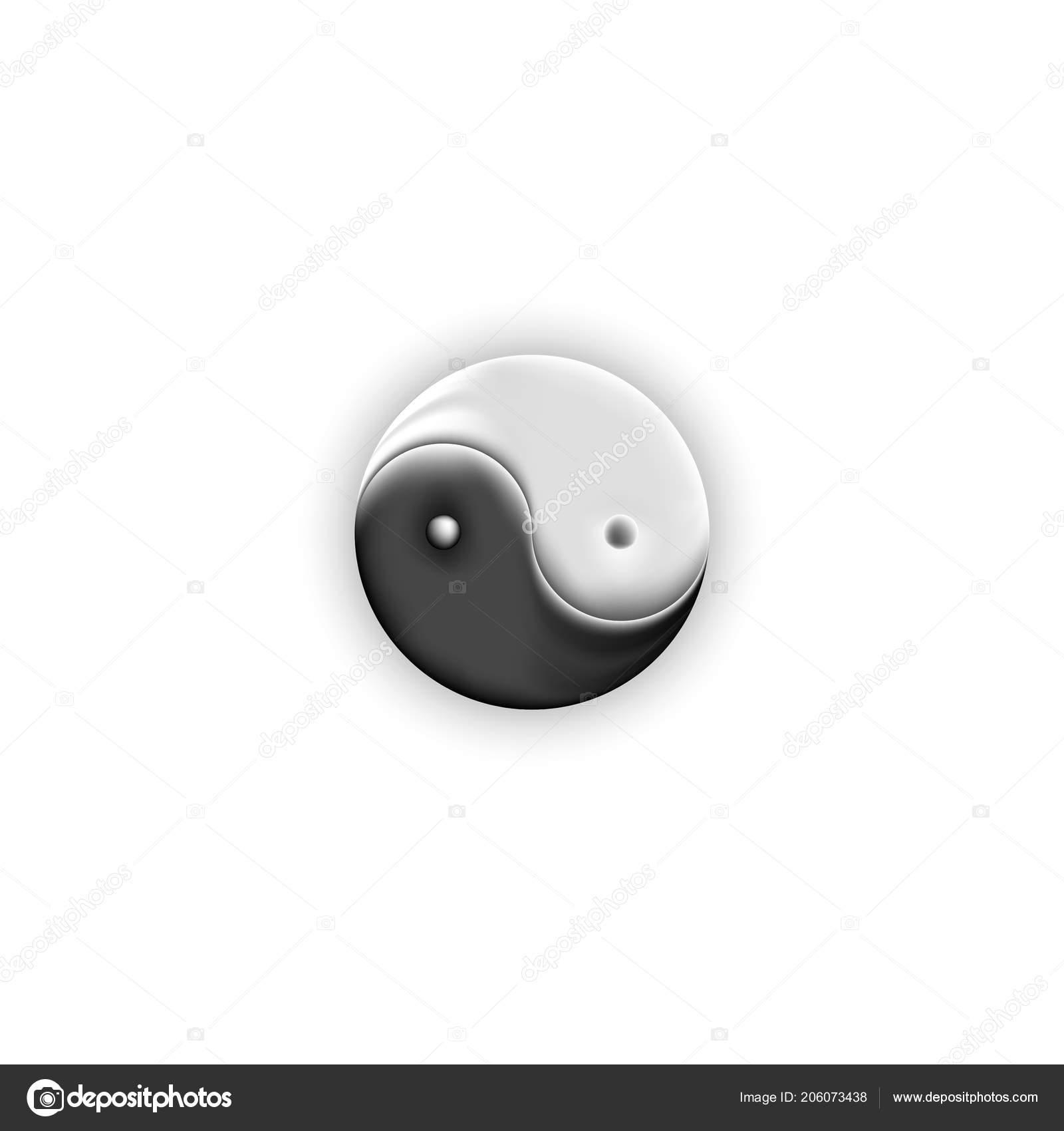 Yin Yang Symbol Shape Negative Positive Forces Light Dark Fire