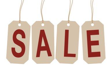 End of year sale savings labels set.