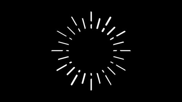 Světelné paprsky pohybové grafiky s nočním pozadím