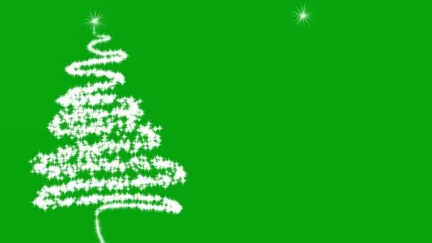 Christmas trees motion graphics with green screen background