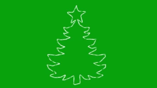 vánoční strom pohybu grafiky se zelenou obrazovkou pozadí