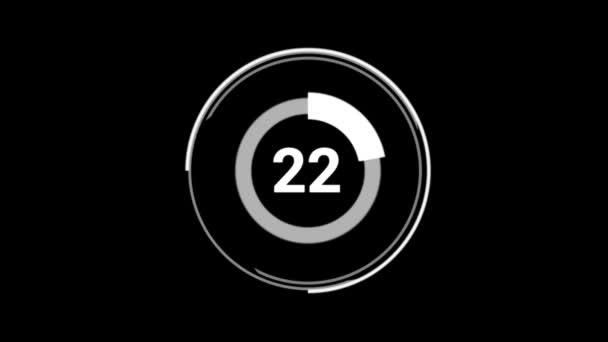 68 achtundsechzig Prozent der Kreisdiagramme drehen sich um die Animation. Weiß auf schwarzem Hintergrund.