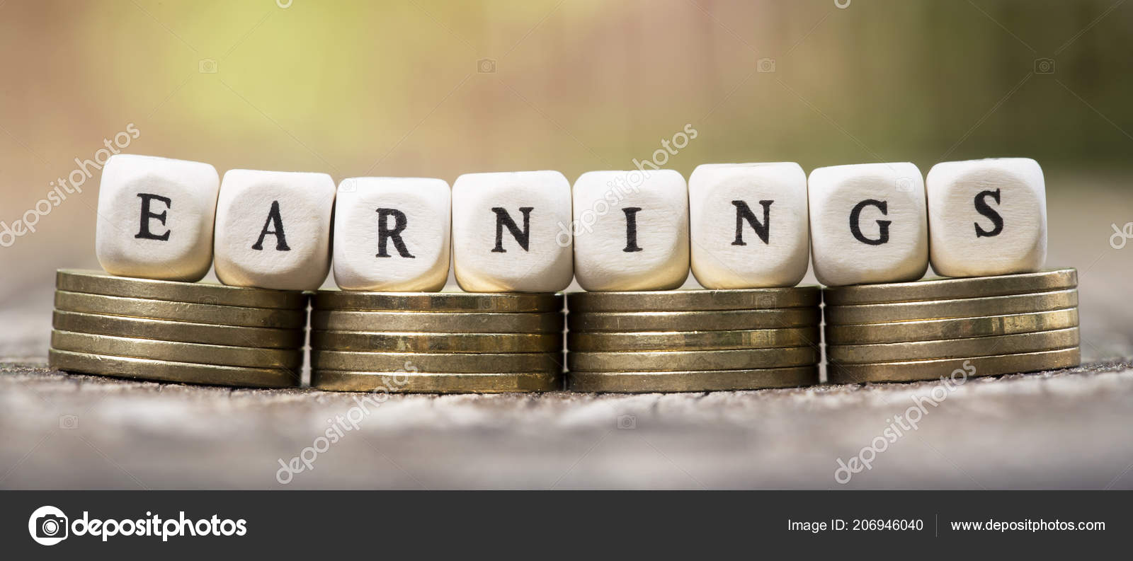 Earn Money Earnings Concept Web Banner Gold Coins Text — Stock Photo