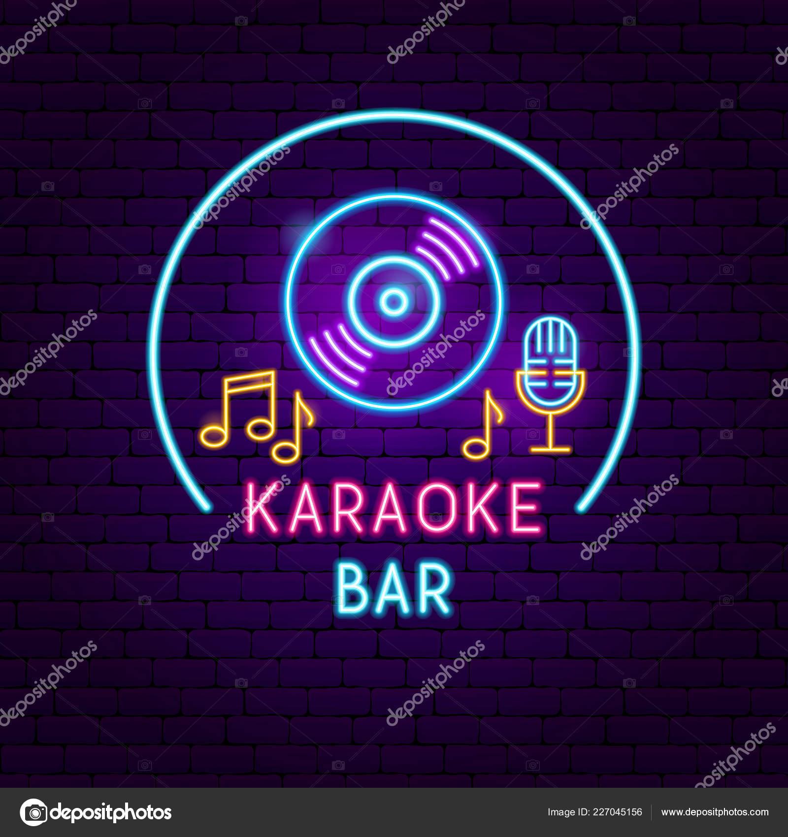 Bar de karaoke de néon — Vetores de Stock © Anna_leni #227045156