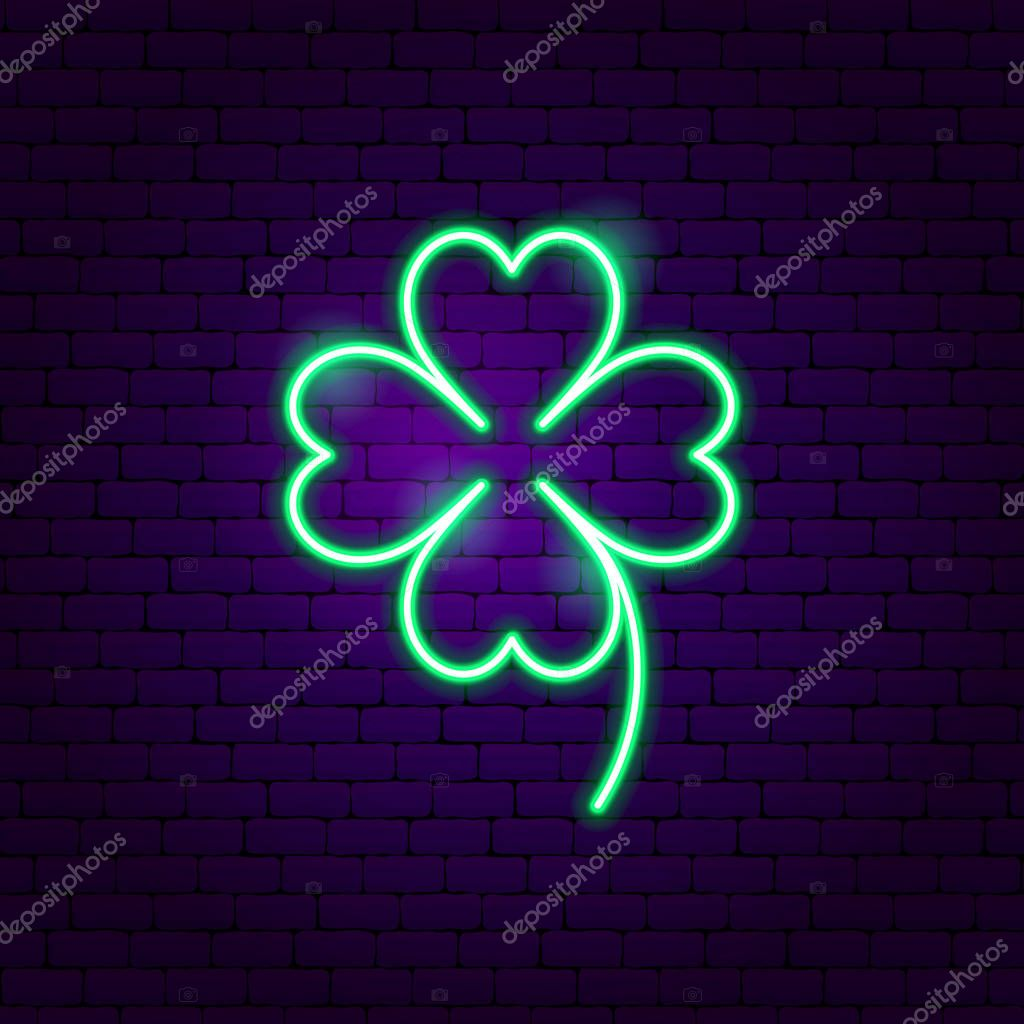 Cloverleaf Neon Sign