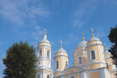 Bell tower and domes. St. Vladimir Cathedral, Saint Petersburg, Russia