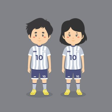 Couple Character Wearing Soccer Outfit icon
