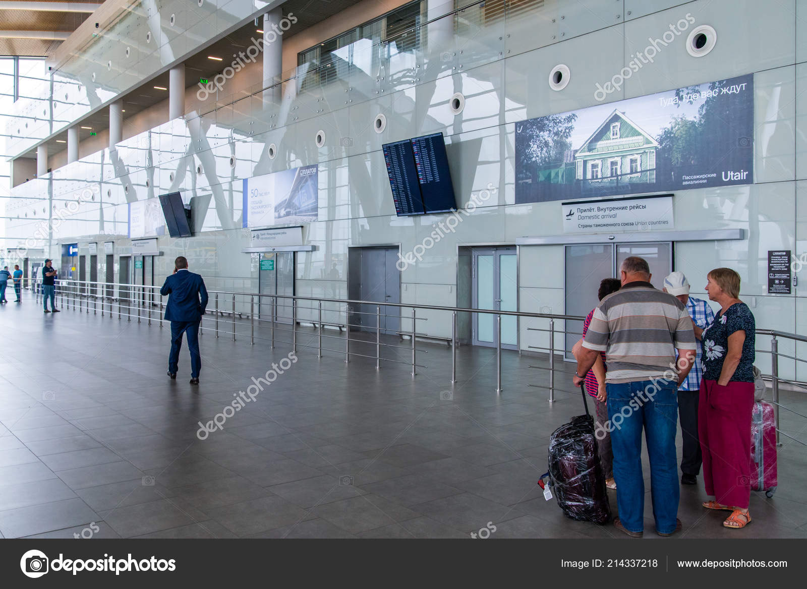Rostov Don Russia September 2018 Tourists Departure Zone International Airport Stock Editorial Photo C Rostovdriver 214337218
