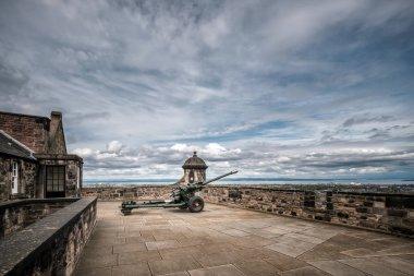 One O'Clock gun at Edinburgh Castle in Scotland