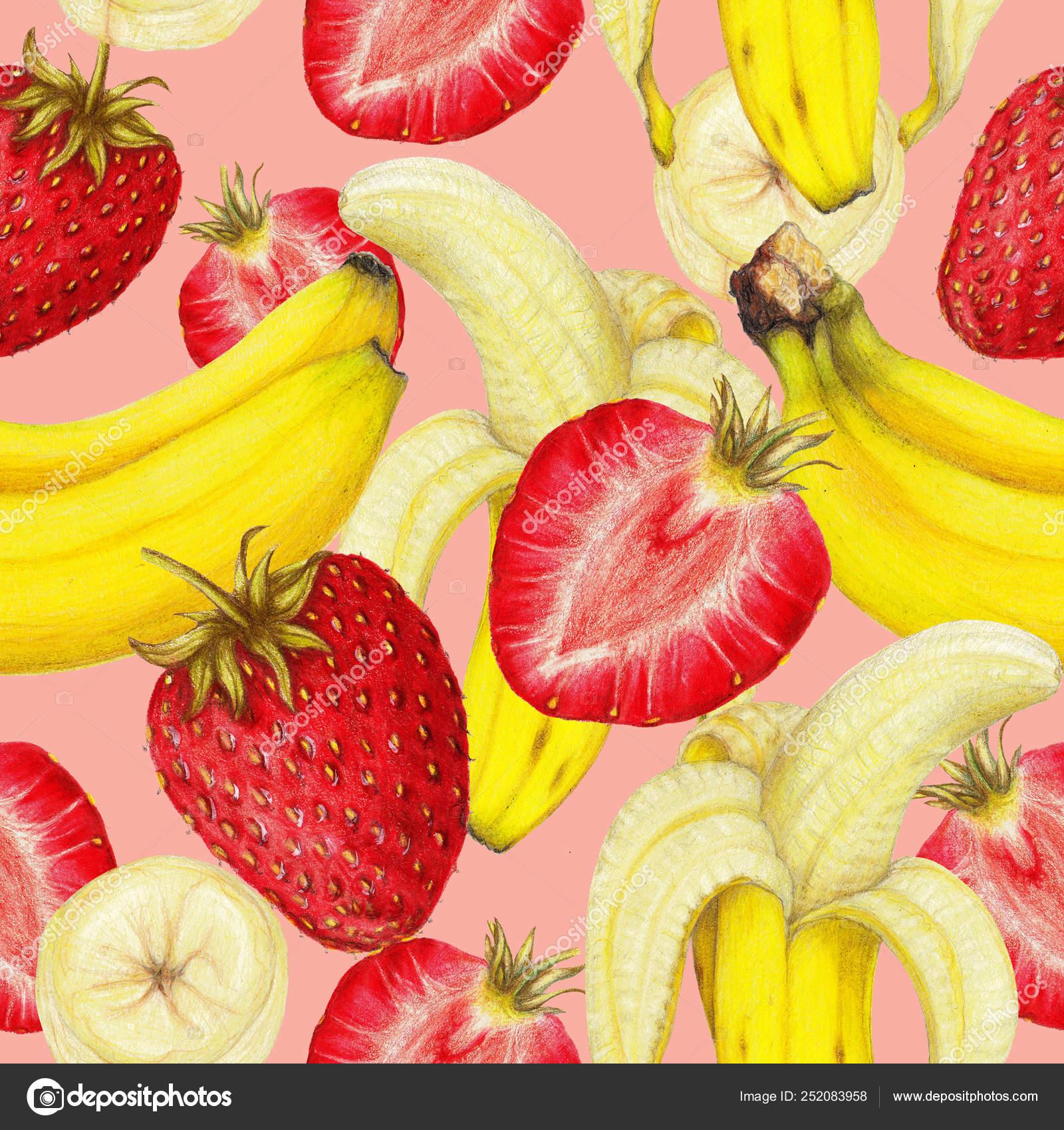 более картинка где нарисован банан клубника и собой, удаленных пассажиров