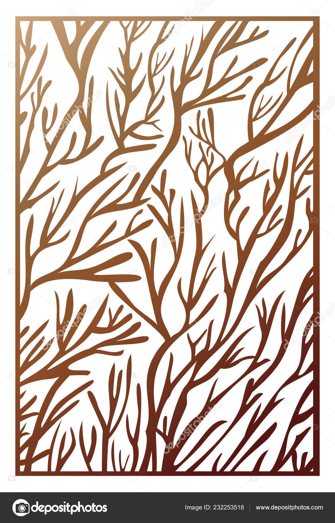Vector Laser Cut Panel Abstract Pattern Template Decorative