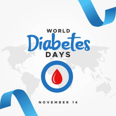 World Diabetes Day Vector Design Illustration For Banner and Background icon