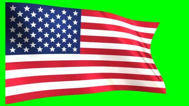USA zászló a szélben hullámzó