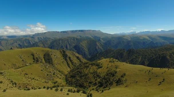 Antenna tájkép, a Kaukázus közel Elbrusz - Európa legmagasabb csúcsa közelében.