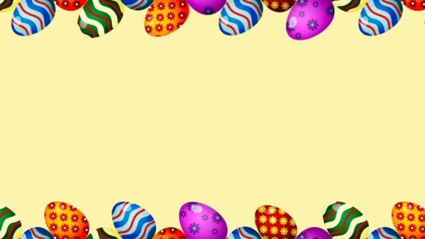 Húsvéti tojás határ keretben. Húsvéti tojás forgatható-zökkenőmentes loopable színes animáció.