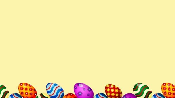 Velikonoční vejce hraniční rámeček. Velikonoční vajíčka s rotační plynulou barevnou animací.