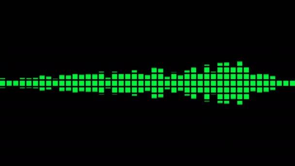Animazione verde Equalizer audio per video musicali, night club, palco da ballo, festa, eventi, podcast youtube. Animazione a ciclo continuo.