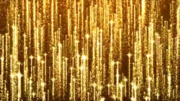 Glamour csillogó részecske arany tűzijáték. Az absztrakt csillámos arany háttér. Zökkenőmentes hurkolás animáció.