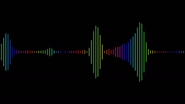 Animazione di eguagliatore audio per video musicali, night club, palco da ballo, feste, eventi, podcast youtube. Animazione a ciclo continuo.