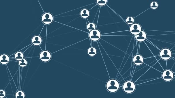 Digitální rozhraní s uživatelskými ikonami a odkazy. Koncepce ochrany dat a kybervesmírných médií. Nepřerušitelné opakování pozadí.