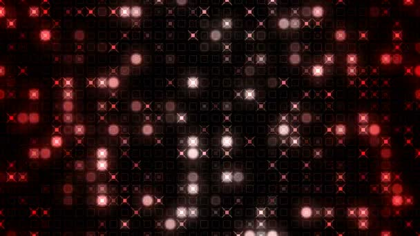 Animation background motion of glowing sphere particles moving with shine light. Seamless loop abstract background.