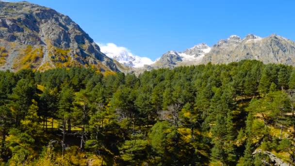 Beautifull landscape view of Caucasus mountains near mount Elbrus - the highest peak in Europe.