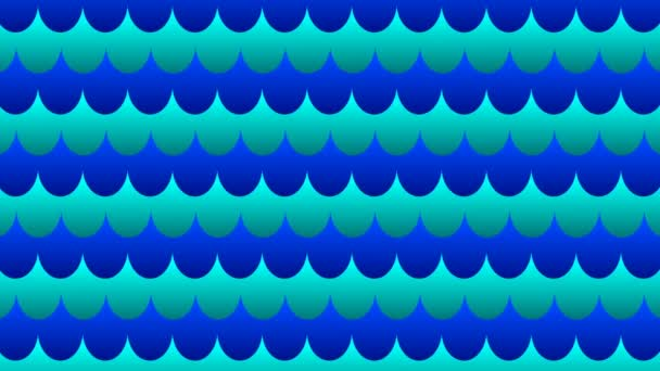 Marine seamless pattern with stylized blue waves on a light background. Abstract water background seamless loop.