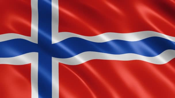 Norway flag waving in the wind. Realistic flag background. Looped animation background.