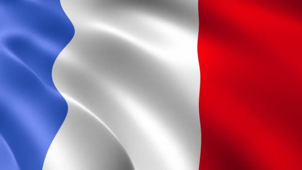 France flag waving in the wind. Realistic flag background. Looped animation background.