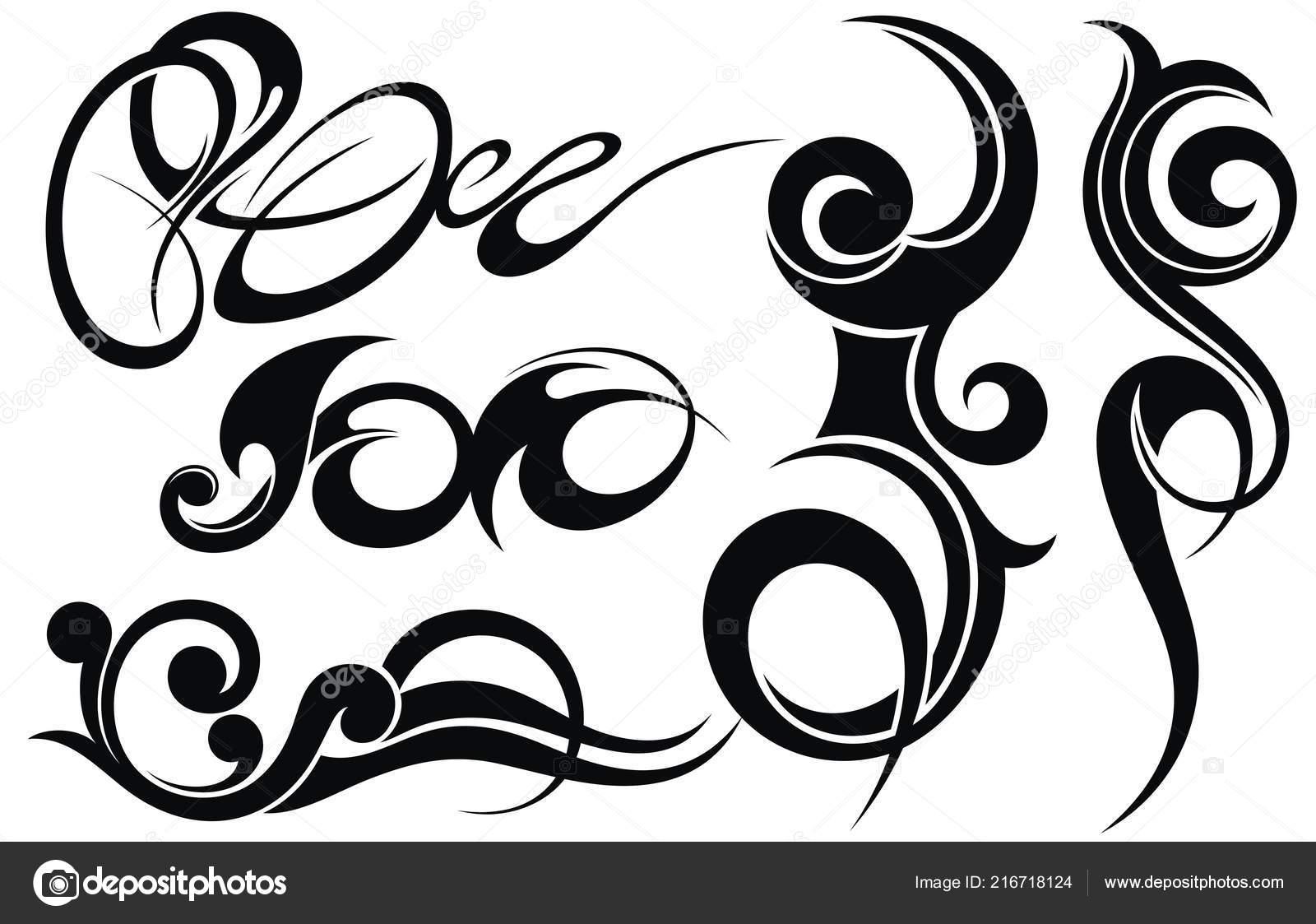 Tribal Tattoo Design Elemente Festlegen Stockvektor C Ksyshakiss