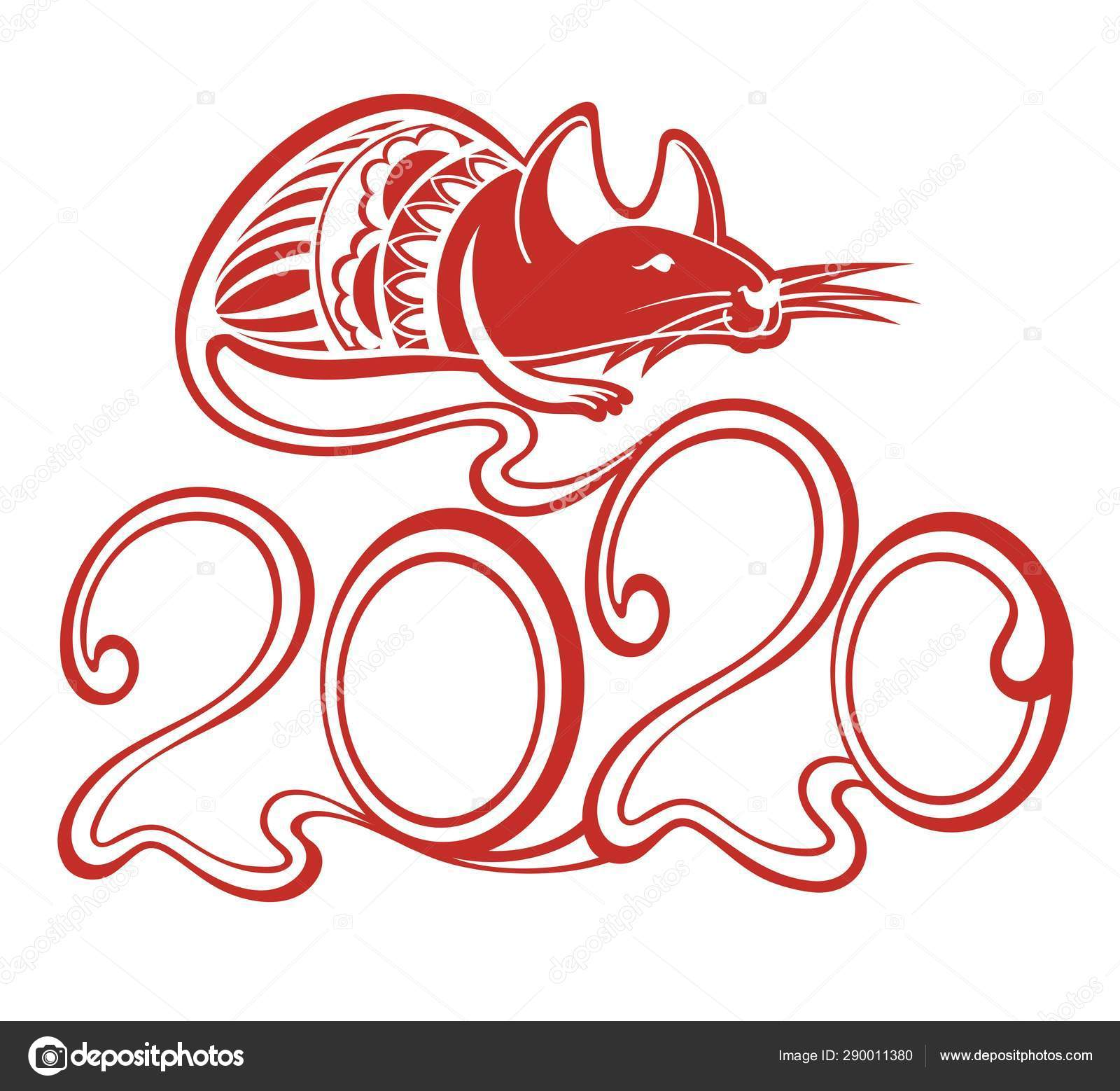 Chinese New Year 2020 Zodiac.Happy Chinese New Year 2020 Year Chinese Zodiac Sign Year