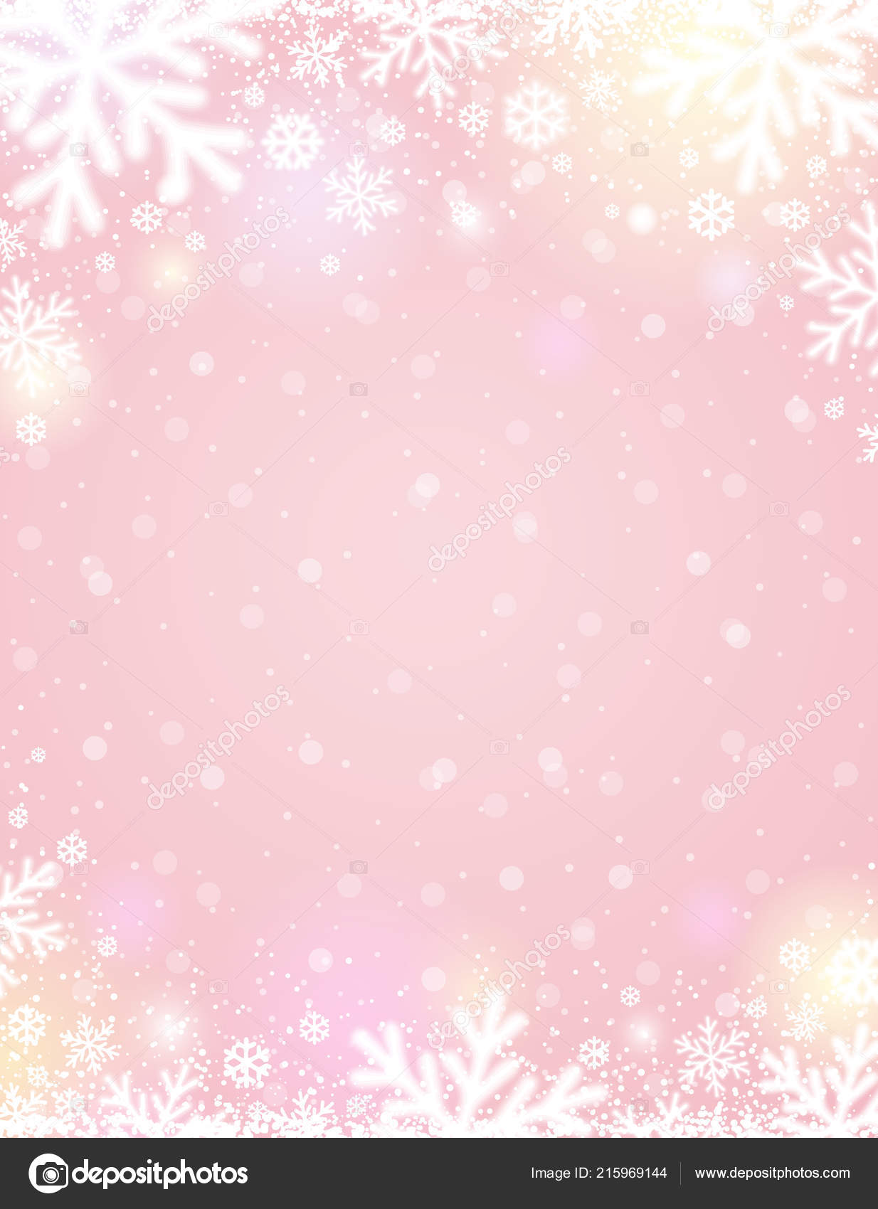 depositphotos 215969144 stock illustration pink christmas background white blurred
