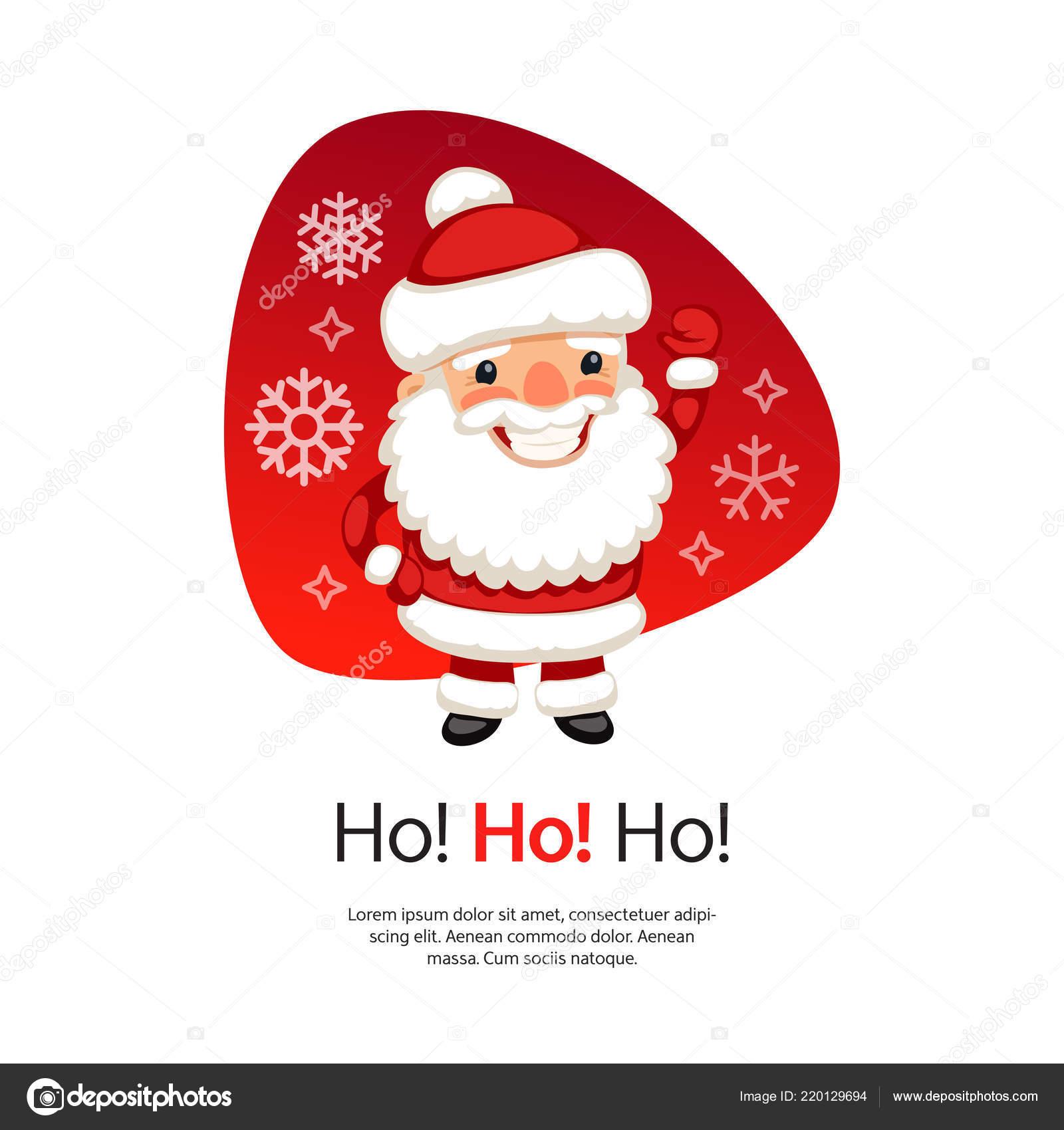 Babbo Natale Ho Ho Ho.Ho Ho Cartolina Di Natale Con Babbo Natale Vettoriali Stock