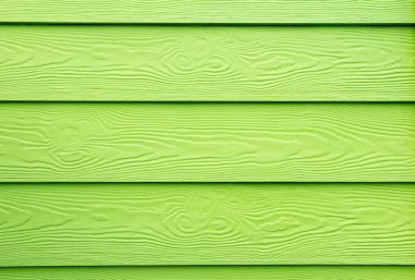 Green painted wood structure - Lacquer on wood grain