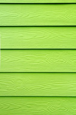 Wood structure painted in green - Varnish on wood grain