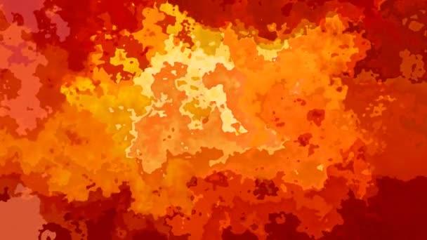 abstraktní, animované barevné bezešvé smyčka video - vytvoří efekt vodových barev - horké ohnivě červená oranžová žlutá barvu pozadí