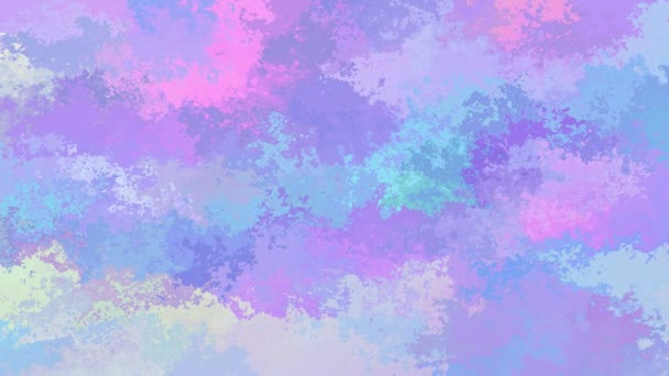 abstract animated stained background seamless loop video - watercolor effect - cute holographic color - baby pink, blue, purple and violet