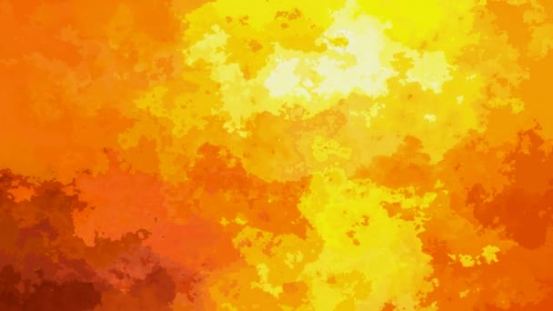 abstract animated stained background seamless loop video - watercolor effect - hot summer sunset color - yellow, orange, red