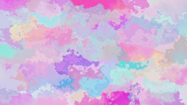 abstract animated stained background seamless loop video - watercolor effect - cute unicorn holographic color