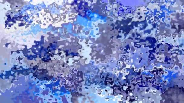abstraktní, animované obarví pozadí bezešvé smyčka video - vytvoří efekt vodových barev - tmavě a světle modré barvy