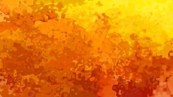 abstraktní, animované barevné bezešvé smyčka video - vytvoří efekt vodových barev - žluté, oranžové a červené ohnivé barvy pozadí
